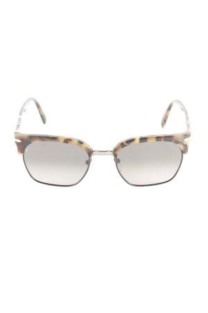 Persol eckige Sonnenbrille schwarz-hellbraun abstraktes Muster Retro-Look