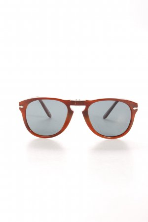 Persol Retro Glasses brown Logo Application