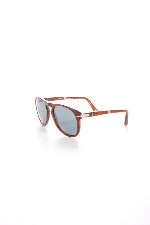 Persol Retro Brille braun Logo-Applikation