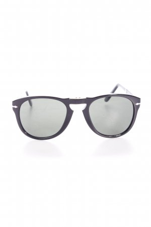 Persol Retro Brille schwarz Logo-Applikation