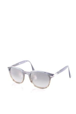 Persol runde Sonnenbrille petrol-silberfarben Farbverlauf Beach-Look