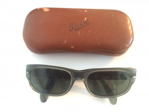 Persol Sunglasses anthracite-lime-green synthetic material