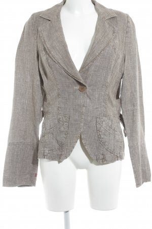 Personal Affairs Long-Blazer hellbraun-wollweiß meliert Casual-Look