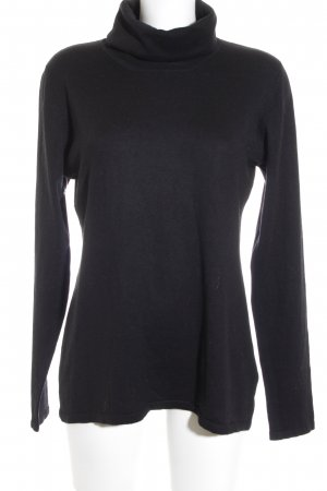 Personal Affairs Rollkragenpullover schwarz Business-Look