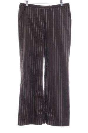 Personal Affairs Pantalone jersey marrone scuro gessato elegante