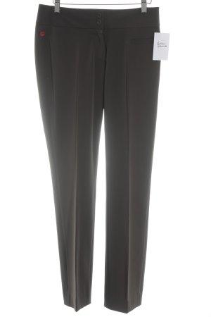 Personal Affairs Pantalone jersey marrone-grigio stile classico