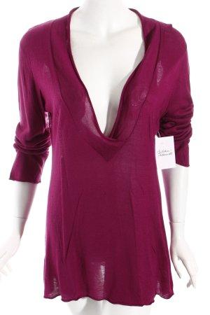 Personal Affairs V-Ausschnitt-Pullover magenta schlichter Stil