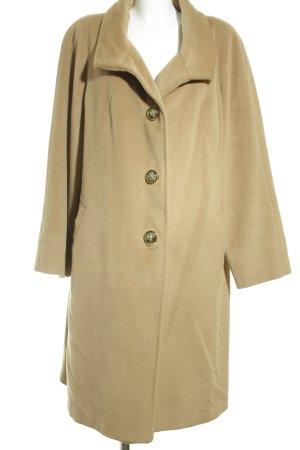 perte ev krizia Wollen jas camel-beige simpele stijl