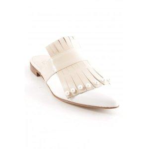Pertini Absatz Pantoletten nude-weiß Elegant