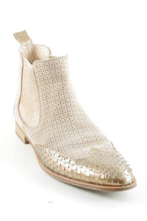 Pertini Chelsea Boots hellbeige-roségoldfarben Romantik-Look