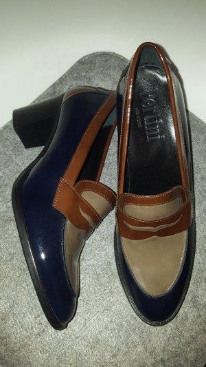 Pertini Loafers bruin-donkerblauw Leer