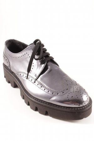 Pertini Moccasins silver-colored-black extravagant style