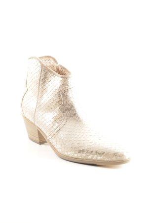 Pertini Reißverschluss-Stiefeletten goldfarben klassischer Stil