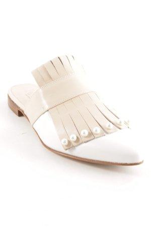 Pertini Zuecos nude-blanco elegante