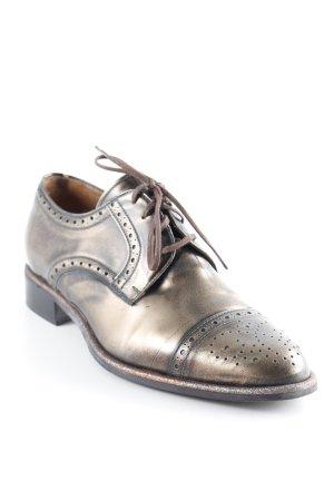 Pertini Schnürschuhe bronzefarben Elegant