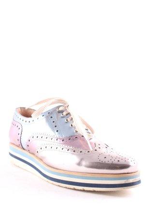 Pertini Lace Shoes multicolored metallic look