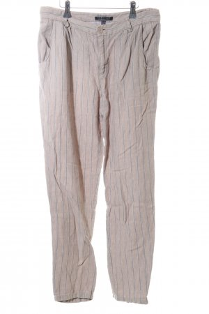 Peruvian Connection Linen Pants nude-silver-colored striped pattern casual look