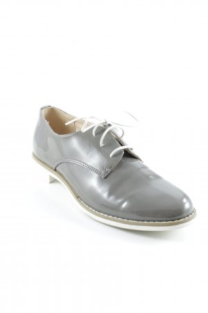 Pesaro Zapatos estilo Oxford gris estilo «business»
