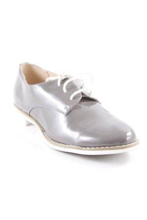 Pesaro Schnürschuhe graubraun schlichter Stil