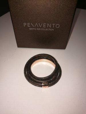 PESAVENTO Armband Polvere dei sogni aus 925 Silber, rosè / schwarz