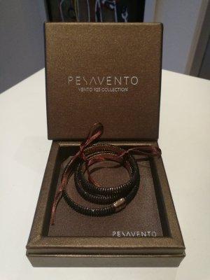 Bracelet en argent noir-or rose