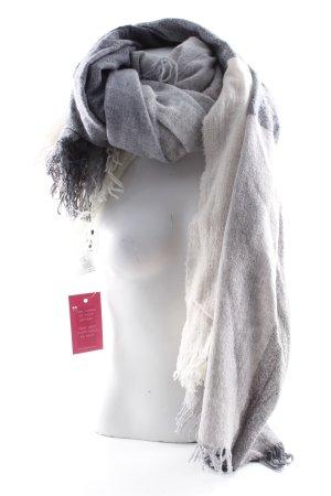 Peserico Écharpe à franges gris-blanc cassé motif à carreaux