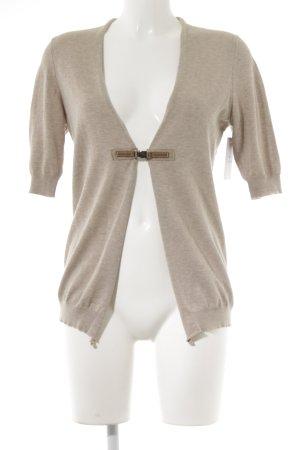 Peserico Cardigan tricotés beige-brun élégant