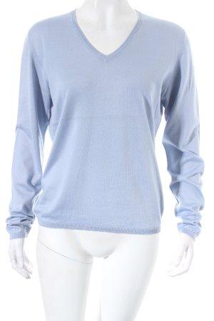 Peter Geeson V-Ausschnitt-Pullover hellblau klassischer Stil