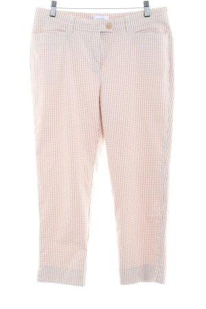 Peter Hahn Pantalon 7/8 beige-blanc motif à carreaux style simple