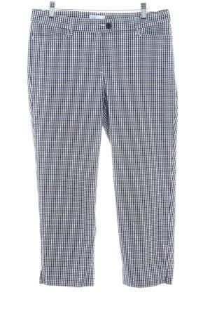 Peter Hahn Pantalon 7/8 noir-blanc motif à carreaux style décontracté