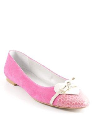 Peter Hahn Ballerinas mit Spitze pink Casual-Look