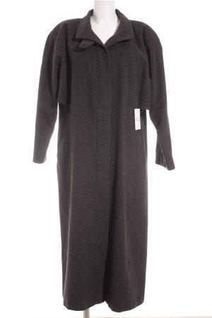 Peter Hahn bodenlanger Mantel grau klassischer Stil