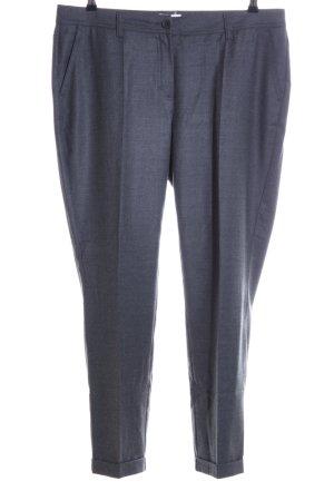 Peter Hahn Bundfaltenhose blau meliert Business-Look