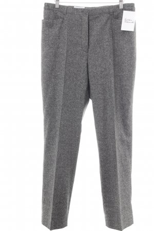 Peter Hahn Bundfaltenhose grau meliert Business-Look
