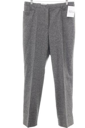 Peter Hahn Pantalon à pinces gris moucheté style d'affaires