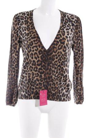 Peter Hahn Cardigan motif léopard style décontracté