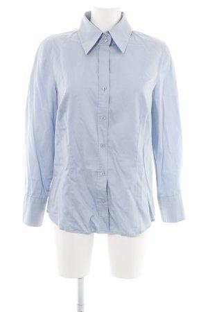 Peter Hahn Hemd-Bluse blau Business-Look