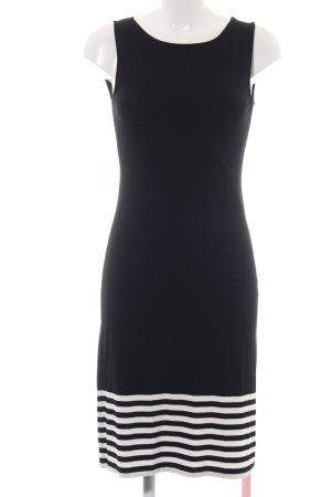 Peter Hahn Robe en jersey noir-blanc motif rayé style d'affaires