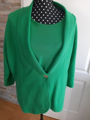 Peter Hahn Knitted Twin Set green cotton