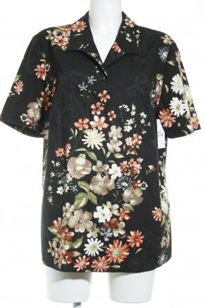 Peter Hahn Short Sleeve Shirt floral pattern Gypsy style