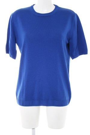Peter Hahn Jersey de manga corta azul look casual