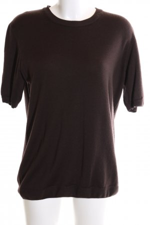 Peter Hahn Short Sleeve Sweater brown casual look