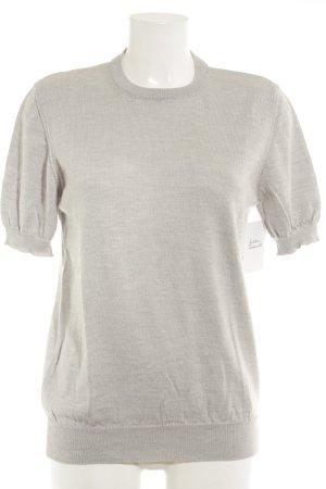 Peter Hahn Short Sleeve Sweater light grey classic style