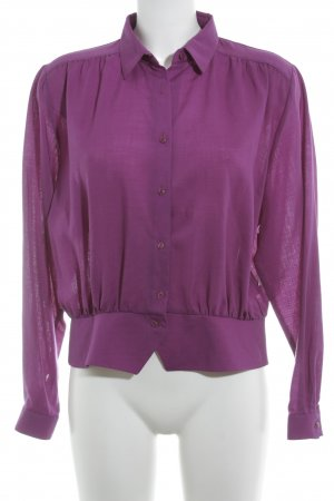 Peter Hahn Langarm-Bluse violett Casual-Look