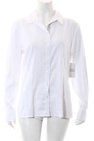 Peter Hahn Langarm-Bluse weiß-hellgrau extravaganter Stil