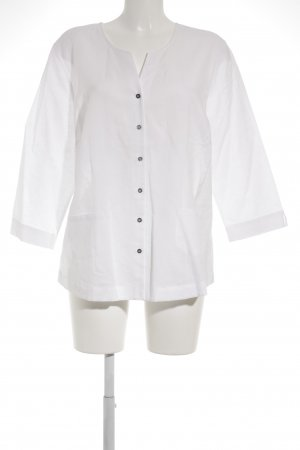 Peter Hahn Blouse en lin blanc style d'affaires