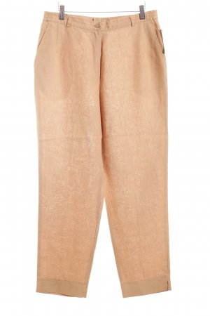 Peter Hahn Leinenhose camel Casual-Look