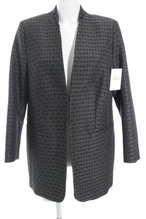 Peter Hahn Blazer long gris brun-noir motif graphique élégant
