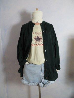 Peter Hahn Oversize Tannengrün Strickjacke mit Taschen 100% Tasmanian Merinowolle M L XL Waldgrün