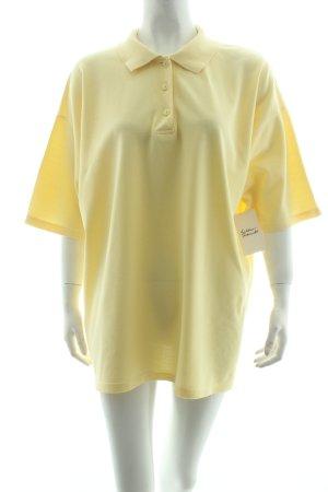 Peter Hahn Polo-Shirt gelb Casual-Look